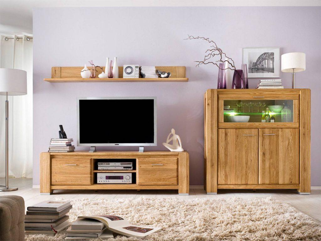 Eiche-Wohnzimmer-fernsehr